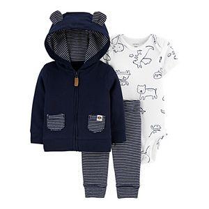 Baby Boy Carter's 3-Piece Animals Little Jacket Set