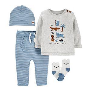 Baby Boy Carter's 4-Piece Animal Take-Me-Home Set