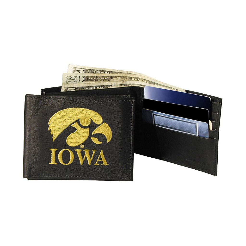 University of Iowa Hawkeyes Bifold Leather Wallet