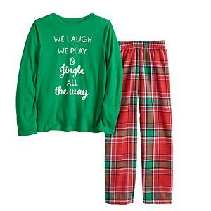 Boys 4-20 Jammies For Your Families® Jingle All The Way Top & Pants Pajama Set