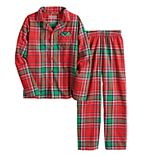 Boys 4-20 Jammies For Your Families® Jingle All The Way Flannel Top & Pants Pajama Set