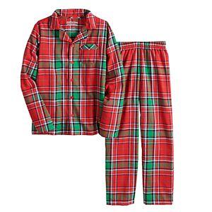 Boys 4-20 Jammies For Your Families® Jingle All The Way Flannel Top & Pants Pajama Set