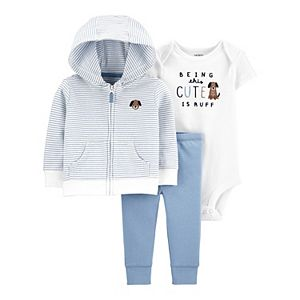 Baby Boy Carter's 3-Piece Dog Little Jacket Set