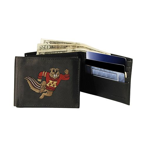 University of Minnesota Golden Gophers Bifold Leather Wallet