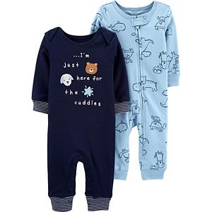 Baby Carter's 2-Pack Animal Jumpsuits