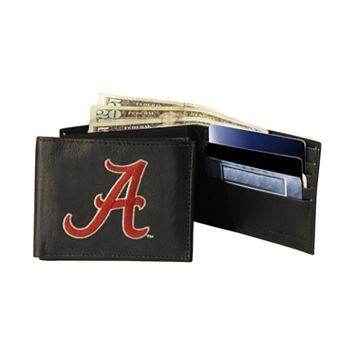 University of Alabama Crimson Tide Bifold Leather Wallet