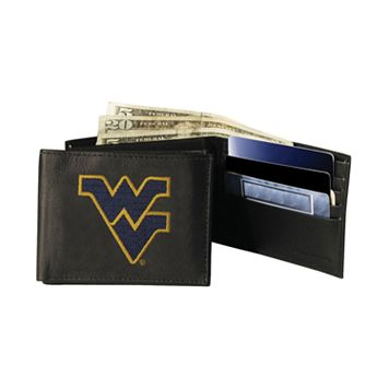 West Virginia Mountaineers Bifold Leather Wallet