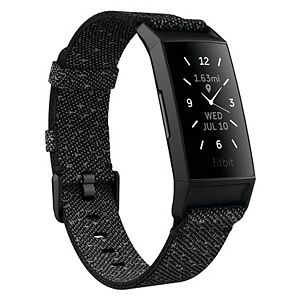 Fitbit Charge 4 Fitness & Activity Tracker with Special Edition Reflective Woven Band