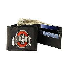 Ohio State University Buckeyes Bifold Leather Wallet