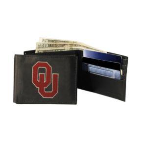 University of Oklahoma Sooners Bifold Leather Wallet
