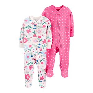 Baby Girl Carter's 2-Pack Cotton Zip-Up Sleep & Play