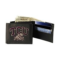 Texas Christian University Horned Frogs Bifold Leather Wallet