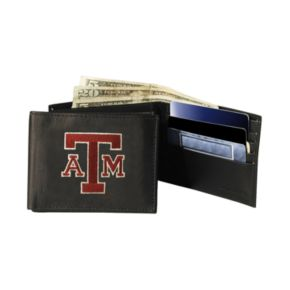 Texas AandM University Aggies Bifold Leather Wallet