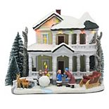 St. Nicholas Square® Village White Christmas House