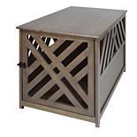 Casual Home Modern Lattice Wooden Pet Crate End Table