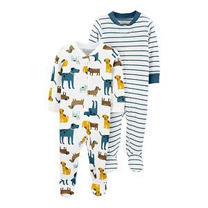 Baby Carter's 2-Pack Zip-Up Cotton Sleep & Plays