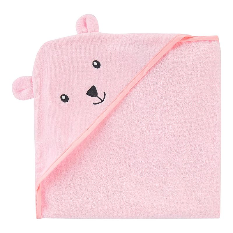 Baby Girl Carter's Bear Hooded Towel, Pink