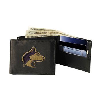 University of Washington Huskies Bifold Leather Wallet