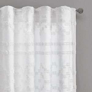 Intelligent Design Whitney Solid Clipped Jacquard Window Curtain