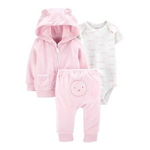Baby Girl Carter's 3-Piece Sun Jacket, Pants & Bodysuit Set