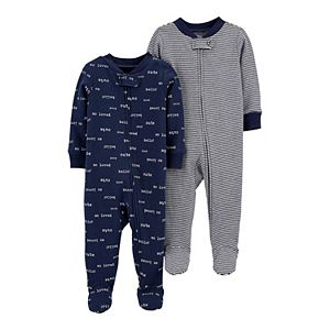 Baby Boy Carter's 2-Pack Zip-Up Cotton Sleep & Plays