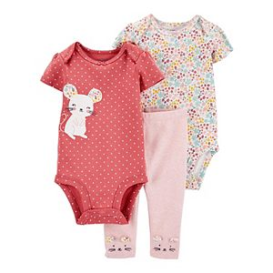 Baby Girl Carter's 3-Piece Mouse Little Character Set