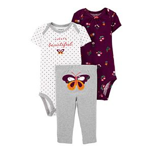 Baby Girl Carter's 3-Piece Butterfly Little Character Set
