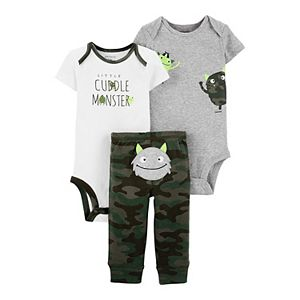 Baby Carter's 3-Piece Monster Little Character Set