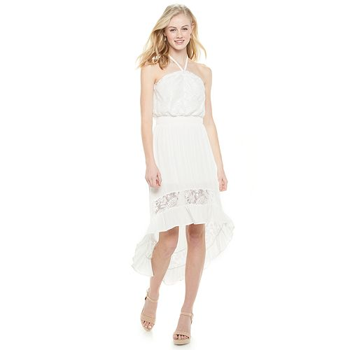 Juniors' Almost Famous Halter High Low Dress