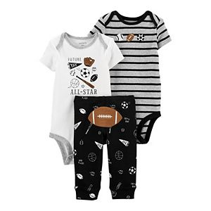 Baby Boy Carter's 3-Piece Football Bodysuits & Pants Set