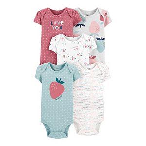 Baby Girl Carter's 5-Pack Strawberry Original Bodysuits
