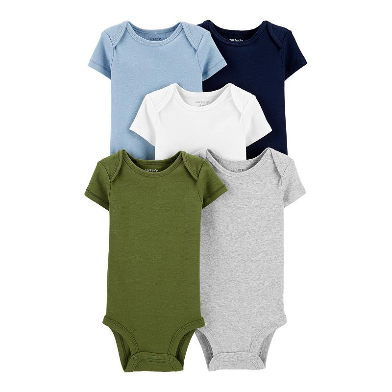 Baby Boy Carter's 5-Pack Short-Sleeve Bodysuits, Infant Boy's, Size: 9 Months, Assorted
