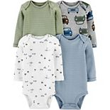Baby Boy Carter's 4-Pack Long-Sleeve Bodysuits