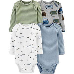 Baby Boy Carter's 4-Pack Long-Sleeve Bodysuits
