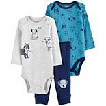 Baby Boy Carter's 3-Piece Bodysuits & Pants Dog Little Character Set