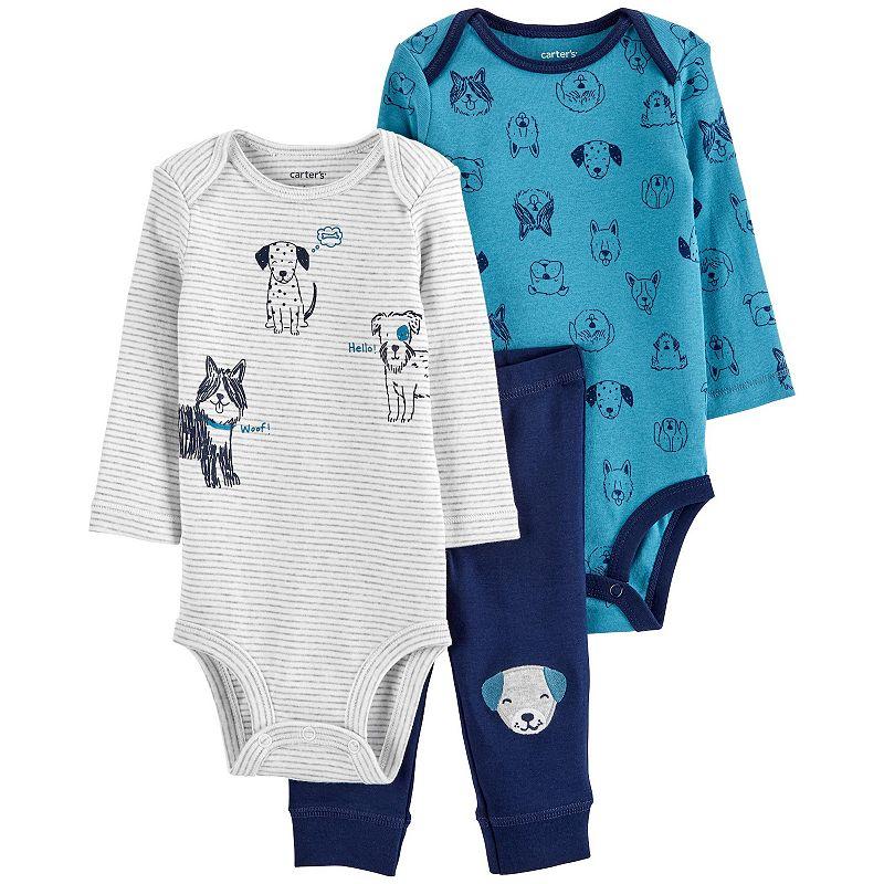 Baby Boy Carter's 3-Piece Bodysuits & Pants Dog Little Character Set. Infant Boy's. Size: Newborn. Multi