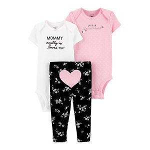 Baby Girl Carter's 3-Piece Heart Little Character Set