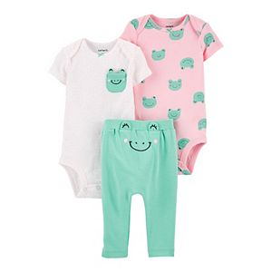 Baby Girl Carter's 3-Piece Frog Little Character Set