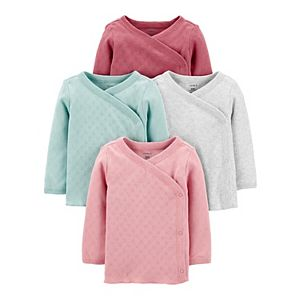 Baby Girl Carter's 4-Pack Side-Snap Tees