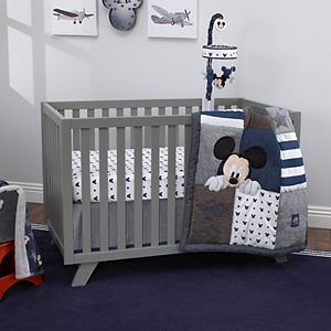 Disney's Mickey Mouse Hello World Denim/Star/Icon 4 Piece Crib Bedding Set by NoJo
