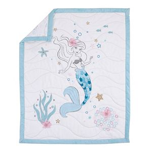 Disney's The Little Mermaid Ariel Sea Princess Mermaid 3 Piece Crib Bedding Set
