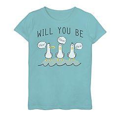 Girls 7-16 Disney / Pixar Finding Nemo Valentine's Day Seagulls 'Will You Be Mine' Tee