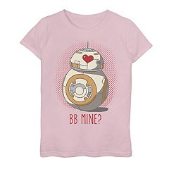 Girls 7-16 Star Wars BB-8 'BB Mine' Heart Eyes Tee
