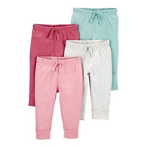 Baby Girl Carter's 4-Pack Pull-On Pants