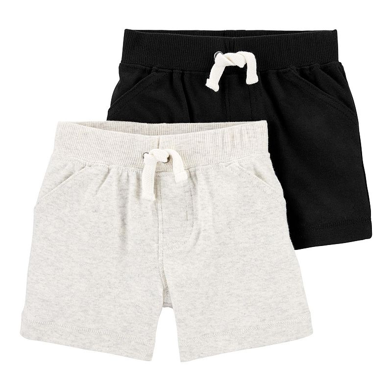 Baby Carter's 2-Pack Pull-On Shorts, Infant Boy's, Size: Newborn, Assorted
