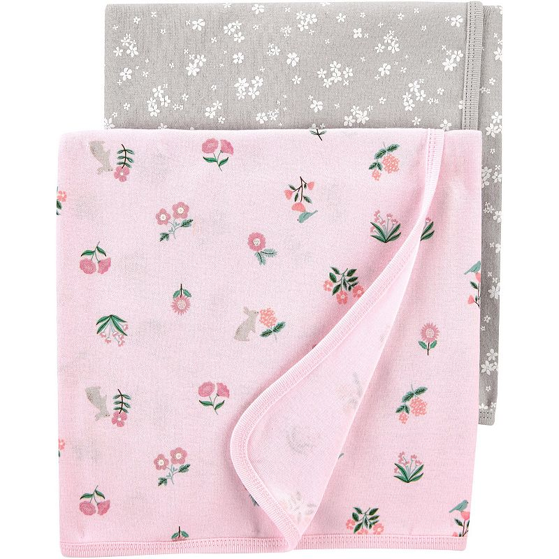 Baby Carter's 2-Pack Floral Baby Blankets, Multi