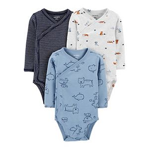Baby Carter's 3-Pack Animal Side-Snap Bodysuits
