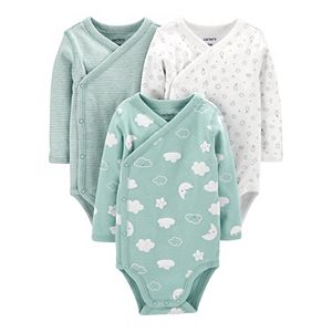 Baby Carter's 3-Pack Clouds Side-Snap Bodysuits