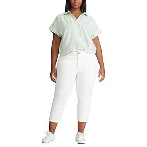Plus Size Chaps Button-Front Shirt