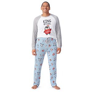 Men's Jammies For Your Families® Cool Penguin Top & Pants Pajama Set by Cuddl Duds